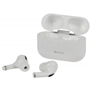 Intro BI1800W Plus Bluetooth-гарнитура сенсорная ultra slim, с зар. кейсом, белая (120/1440)