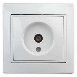 1Э-301-01 Intro Розетка TV одиночная, СУ, б.л., Plano, белый (10/200/2400)