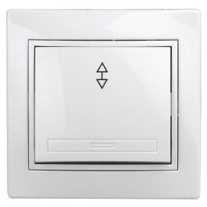 1Э-103-01 Intro Переключатель, 10А-250В, СУ, б.л., Plano, белый (10/200/2400)