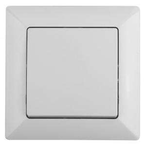 4-101-01 Intro Выключатель, 10А-250В, СУ, Solo, белый (10/200/2400)