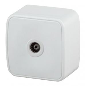 3-301-01 Intro Розетка TV одиночная, IP20, ОУ, Polo, белый (20/400/4800)