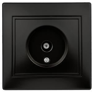 1-301-05 Intro Розетка TV одиночная, IP20, СУ, Plano, антрацит (10/200/2400)