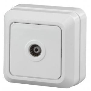 2Э-301-01 Intro Розетка TV одиночная, ОУ, Quadro, б.м.п., белый (10/200/2400)