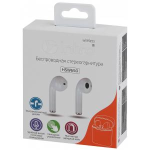 Intro HSW650White Bluetooth-гарнитура белые (100/2400)
