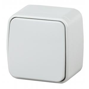 3-103-01 Intro Переключатель, 10А-250В, IP20, ОУ, Polo, белый (18/360/4320)