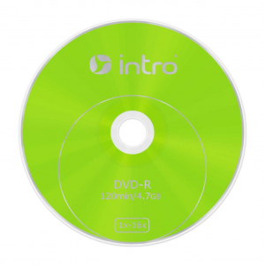 Intro DVD-R INTRO 16х 4,7GB  Shrink 50 (50/500/22500)