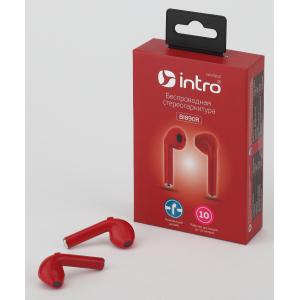 Intro BI890R вкладыши slim, Bluetooth-гарнитура, красные (120/2160)