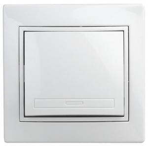 1А-101-01 Intro Выключатель, 10А-250В, СУ, Al+Cu, Plano, белый (10/200/2400)