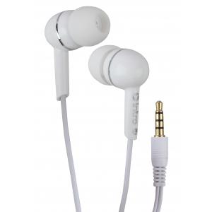 Наушники проводные Intro  RX805 айфон самсунг apple вкладыши с микрофоном белые