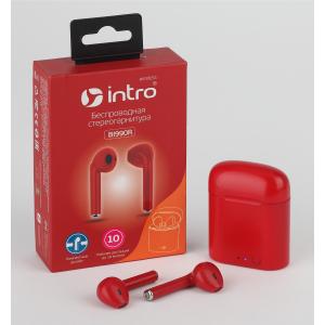 Intro BI990R вкладыши slim, Bluetooth-гарнитура с зар. кейсом, красные (120/2160)