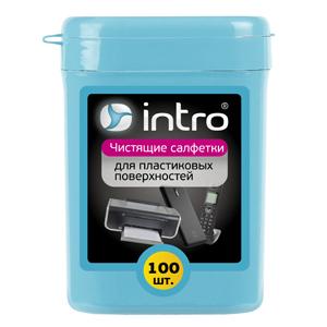 Intro Чистящие салфетки д/ поверхностей 100 шт. (туба мини) (24/2400)
