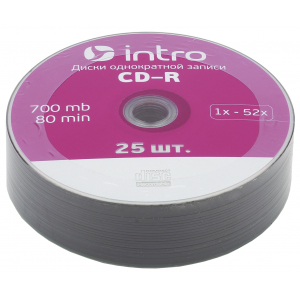 Intro СD-R INTRO 52X 700MB  Shrink 25 (25/500/22500)