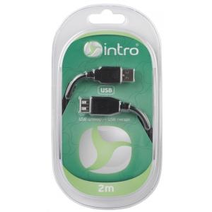 USB 2004101 Кабели_25 Intro USB 2.0, штекер-гнездо, длина-2м (20/40/1000)