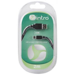 USB 2002101 Кабель Intro USB 2.0, штекер-mini штекер, длина-2м (20/40/800)