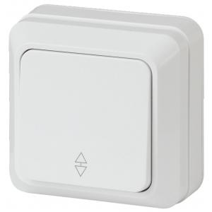2-103-01 Intro Переключатель, 10А-250В, IP20, ОУ, Quadro, белый (10/200/3600)
