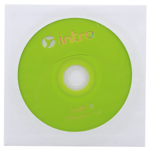 Intro DVD-R INTRO 16X 4,7GB  конверт (150/600/14400)