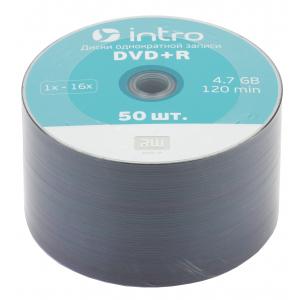 Intro DVD+R INTRO 16х 4,7GB  Shrink 50 (50/500/22500)