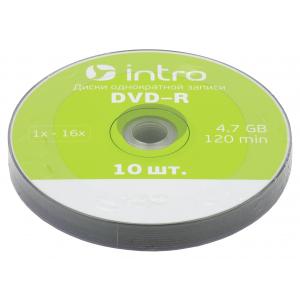 Intro DVD-R INTRO 16х 4,7GB  Shrink 10 (10/400/18000)
