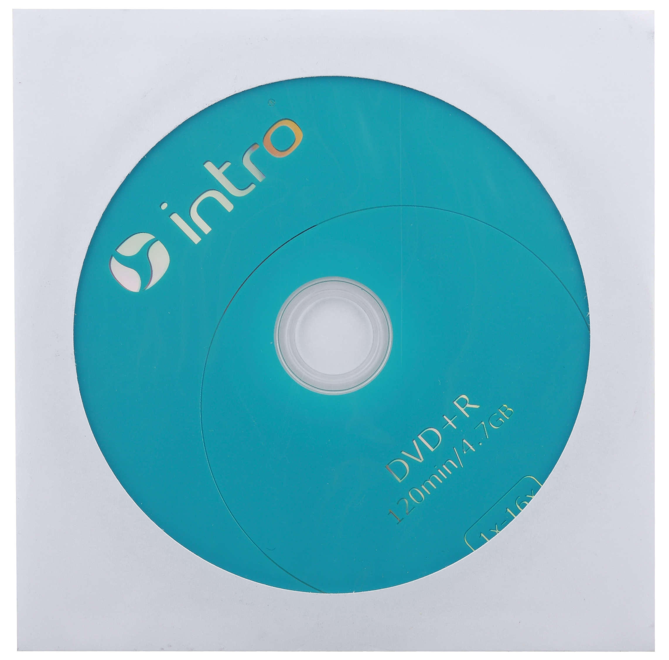 Intro DVD+R INTRO 16X 4,7GB  конверт (150/600/14400)