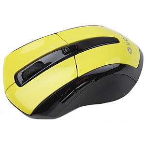 MW207 black/yellow Мышь_25 Intro Wireless Black/Yellow (20/40/320)